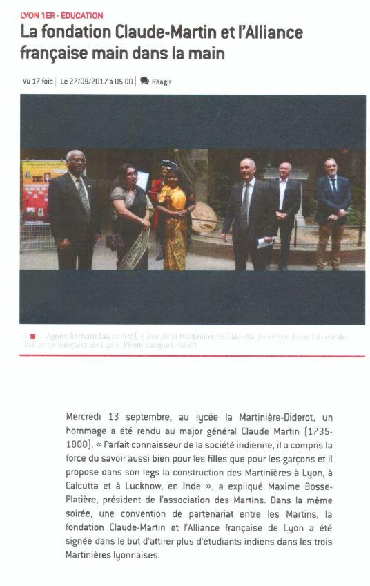 Une étudiante indienne apprend le français à Lyon