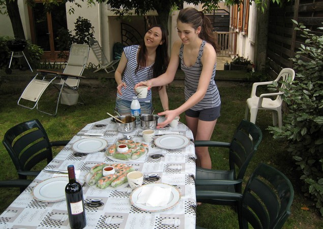 Repas dans une famille française
