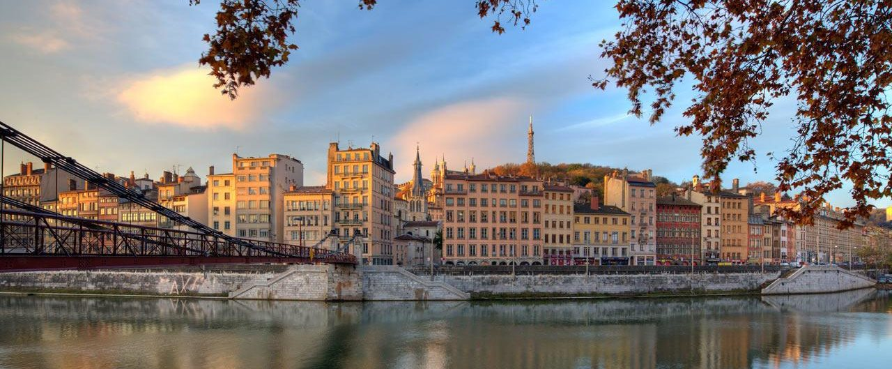 Lyon's river banks