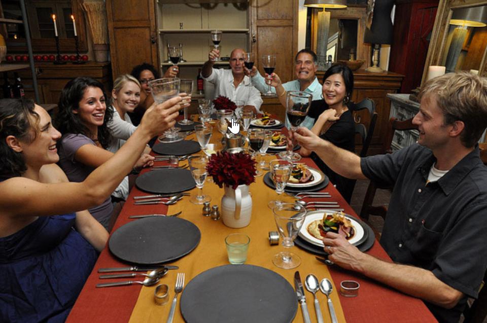 lyon, international, diner, famille, parler français, learn french