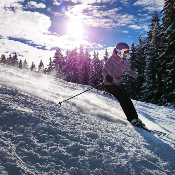 spa skiing or snowshoe outing in the Alps ?