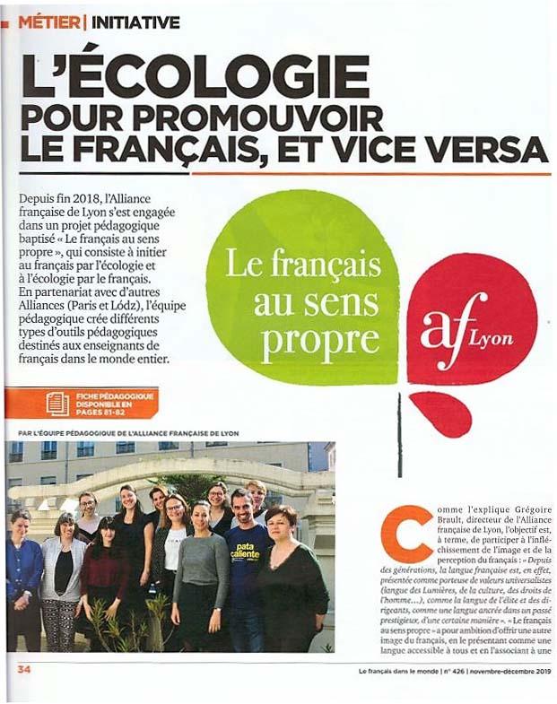 le français au sens propre FASP dans la presse